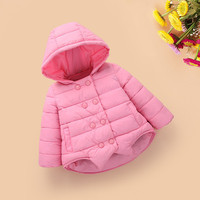 Baby Girls Winter Coats New baby Coat Cotton baby Coat Toddler Warm infant Jacket Winter Outerwear Thick Girl Clothing Q183