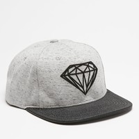 Diamond Supply Co Premium Brilliant Leather Snapback Hat - Mens Backpack - Grey Heather/Black - One