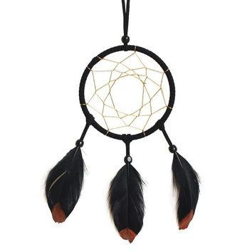 Ethnic Handmade Craft Feather Dream Catcher Wall Car Hanging Ornament Living Room Yard Decoration Mascot Birthday Gifts