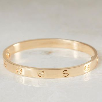 CARTIER LOVE BRACELET 18K YELLOW GOLD LOVE BANGLE SIZE RRP ?5600 Box & Papers