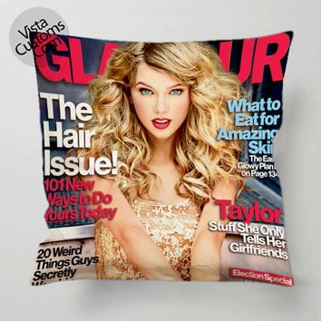 Taylor Swift cute magazine covers pillow case, cover ( 1 or 2 Side Print With Size 16, 18, 20, 26, 30, 36 inch )