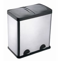 Walmart: Step N' Sort 13-Gallon 2-Compartment Stainless Steel Trash and Recycling Bin