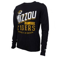 Mizzou Alta Gracia Tiger Head Crew Neck Shirt