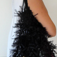 Hairy Black Net Bag , Free Shipping , purses
