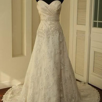 Vintage Lace Wedding Dress A LINE Bridal Gown wedding dresses