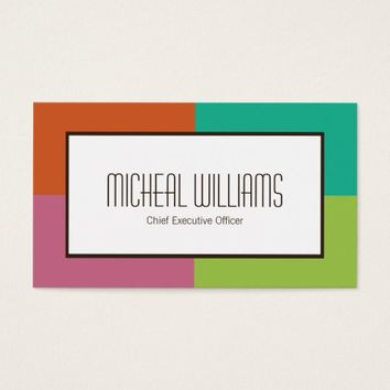 Groupon Color Block CEO Company Business Cards