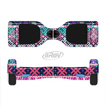The Pink & Teal Modern Colored Aztec Pattern Full-Body Skin Set for the Smart Drifting SuperCharged iiRov HoverBoard