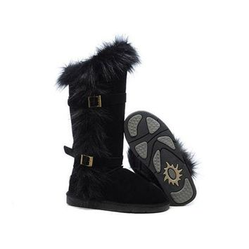 Ugg Boots Black Friday Deals Fox Fur tall 1984 Black For Women 95 95