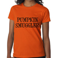 Awesome Pregnancy Halloween T Shirt PUMPKIN SMUGGLER Expecting Mom T Shirt Makes Great Shower Gift Halloween Costume T Shirt Halloween Shirt