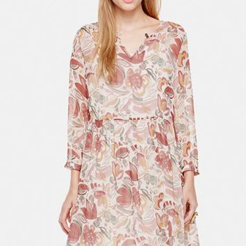 Women's Two by Vince Camuto Floral Print Babydoll Dress,