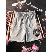 Gucci Trending Women Men Casual Embroidery Sport Shorts Grey I-CN-CFPFGYS
