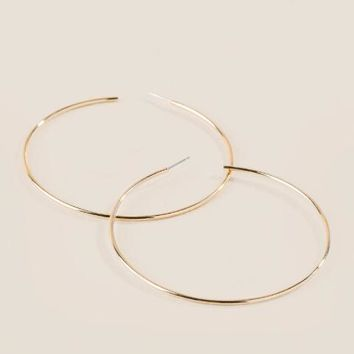 Melody thin hoop earring
