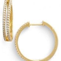 Women's Bony Levy Diamond Split Hoop Earrings (Limited Edition) (Nordstrom Exclusive)