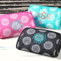 Monogrammed Hanging Cosmetic Bags