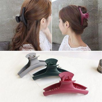 DKLW8 2017 New Fashion Simple Hair Clip Hair Claw Hair accessories for Women Hair Crab Clamp Big frosted acrylic clip Headwear