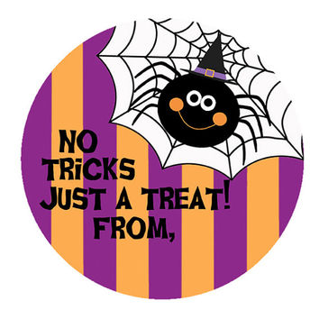 INSTANT DOWNLOAD, Trick or Treat Stickers, Goodie Bag Labels, Party Favors, Kids Treat Bags, Spider Web Stickers (253)
