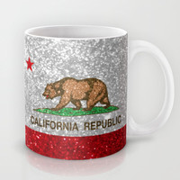 Glitter California Republic Flag Mug by NorCal