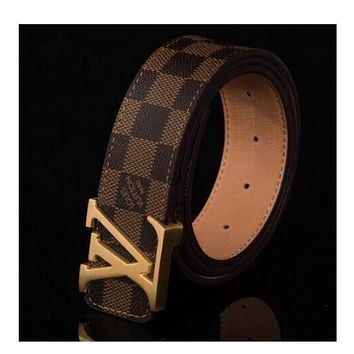 LOUIS VUITTON AAA++ MEN'S BELT WOMEN'S BELT