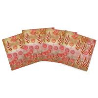 "Marianna Tankelevich ""Summer Music"" Red Orange Indoor/Outdoor Place Mat (Set of 4)"