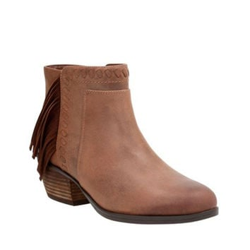 Clarks Gelata Flora Brown Leather Boots
