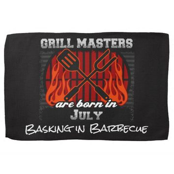 Grill Masters Are Born In July Add A Slogan Kitchen Towel