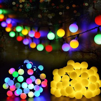 7M50LED solar light series waterproof outdoor decorative ball fairy light string Holiday Christmas garden decorated LED lamp