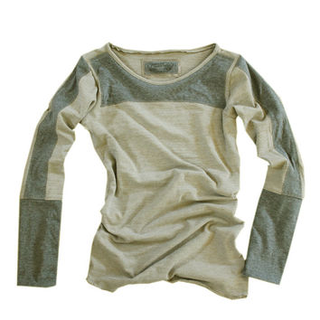 Women top pull over color blocking long sleeve by tratgirl