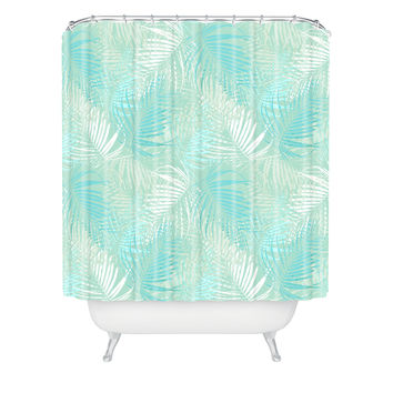Aimee St Hill Pale Palm Shower Curtain