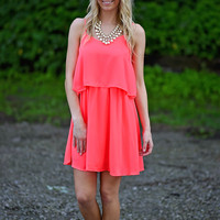 Girls Night Out Dress - Coral