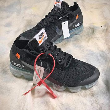OFF WHITE Nike Air Vapormax Mesh Black Sport Running Shoes  - Best Online Sale