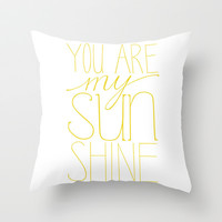 Sunshine Throw Pillow by Sarah - Letter and Line Studio | Society6