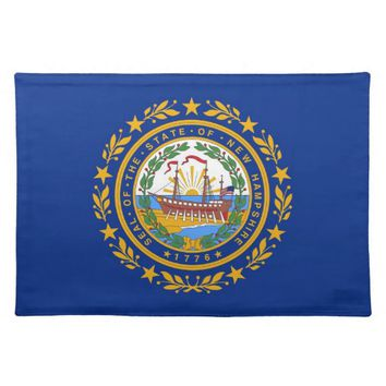 New Hampshire Flag American MoJo Placemat
