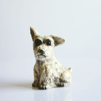 Vintage 1930 Goebel dog perfume lamp, 1930 Art Deco decoration, ceramic Goebel dog figurine, Antique Art Deco perfume night light, Terrier