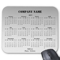 Black Silver Business Promotional 2017 Calendar Mouse Pad