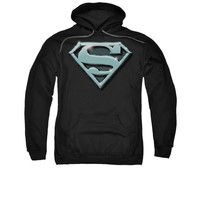 Superman Chrome Shield Mens Pullover Hoodie
