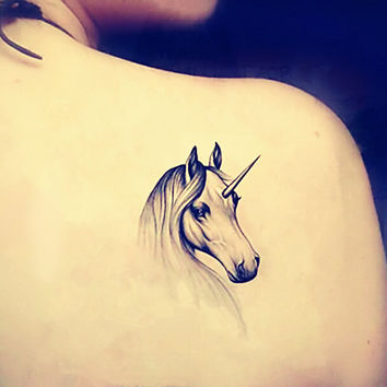 1pc  Unicorn  temporary tattoo fake tattoo body art small tattoo