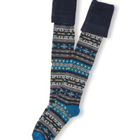 Aeropostale  Womens Fair Isle Turn Cuff Over-The-Knee Socks
