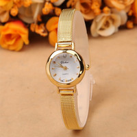 2015 New Ladies Fashion Watches Women Watch Girls Royal Gold Dial Bracelet Quartz Stainless Steel Wrist watch