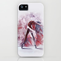 Ballet study - watercolor & pastel iPhone & iPod Case by Jane-Beata