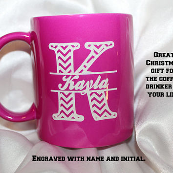 Personalized coffee mug,  coffee enthusiast, engraved coffee mug,  makes great Christmas gift