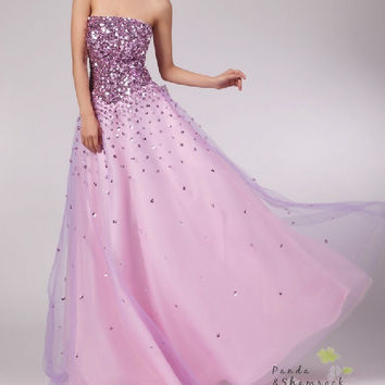 prom dress/evening gown/long/tulle/elegant/custom made/ALL SIZE