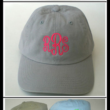 Monogrammed Cap,  Beach Hat,  Wedding Party Gifts, Sorority Cap, Custom Embroidered Baseball Caps
