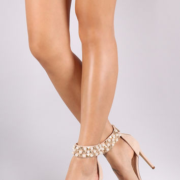 Adrienne Pearl And Stud Heel