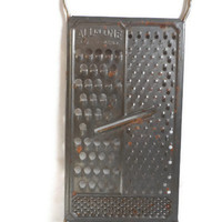 All in One Pat. Pend. Cheese Grater / Vintage Housewares