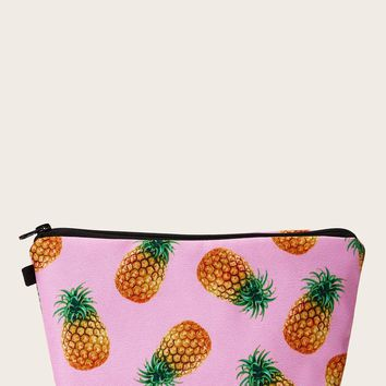 Pineapple Pattern Makeup Bag