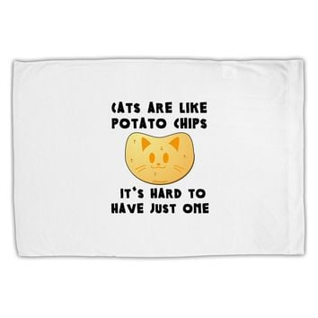 Cats Are Like Potato Chips Standard Size Polyester Pillow Case by TooLoud
