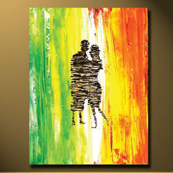 Canvas Art Painting Abstract Paintings Contemporary Color Couple