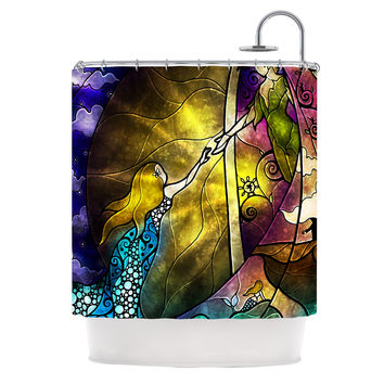 "Mandie Manzano ""Fairy Tale off to Neverland"" Shower Curtain"