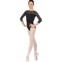 "Adult ""Grace Kelly"" Long Sleeve Lace Leotard"