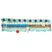 Multi Pack Friendship Bracelets - Blue Multi